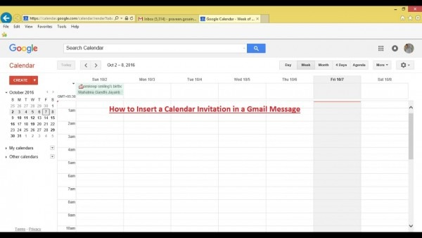 How To Insert A Calendar Invitation In A Gmail Message (oct
