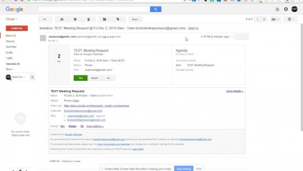 Google Tutorial  How To Accept A Meeting Request From Gmail Inbox