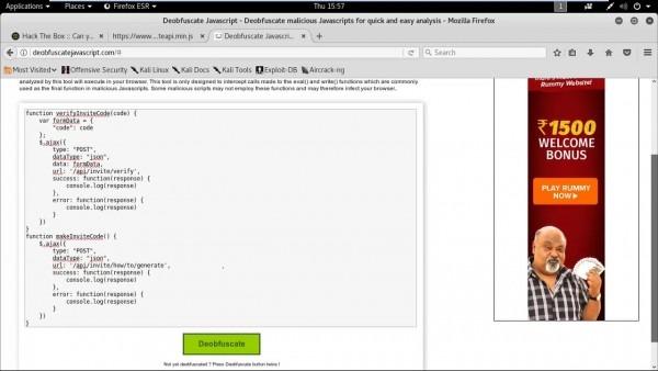 Hack The Box  Ctf Invite Code Process