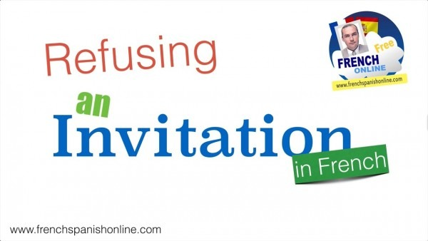 How To Decline An Invitation In French