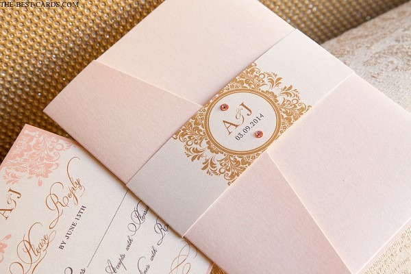 Tender Love Wedding Invitation Pocket Holder Suite With Waistband