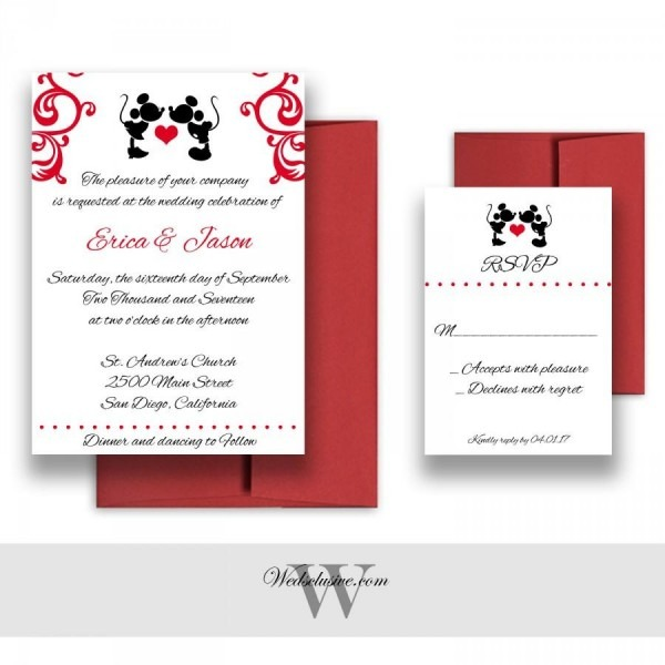 Mickey And Minnie Wedding Invitations, Disney Weddings, Fairytale