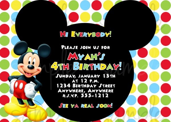 Mickey Mouse Invitation Template Free Popular Birthday Invitations