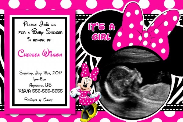 Minnie Mouse Baby Shower Invitation Maker