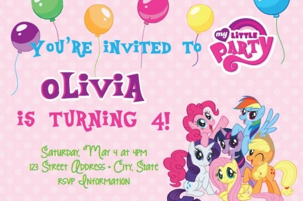 My Little Pony Birthday Invitations Printable Free Trend With My
