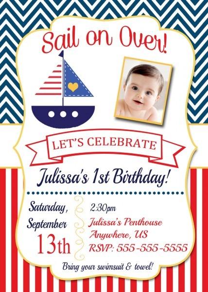 Nautical Birthday Invitations Nautical Birthday Invitations This