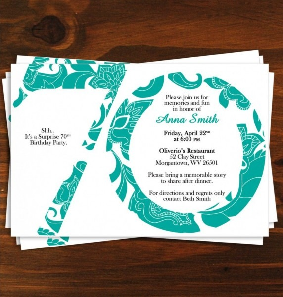 New 70's Party Invitations Templates
