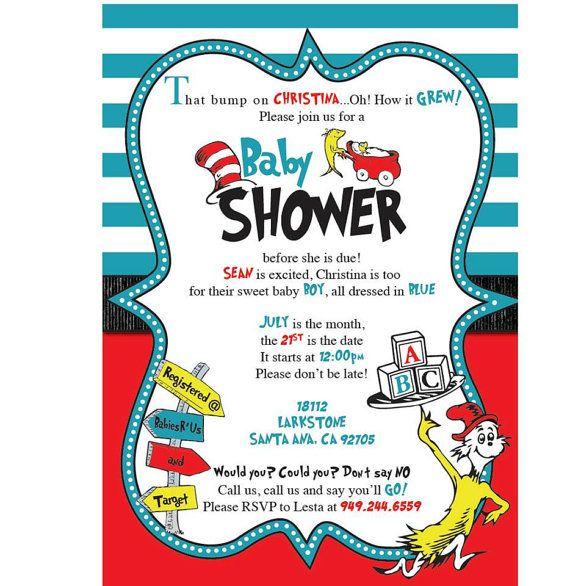 Invitation Ideas  Dr Seuss Baby Shower Invitations Templates
