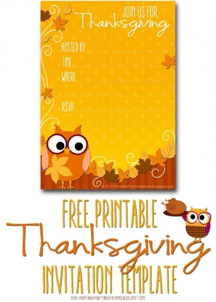 Printable Thanksgiving Postcard Invitations Elegant Free