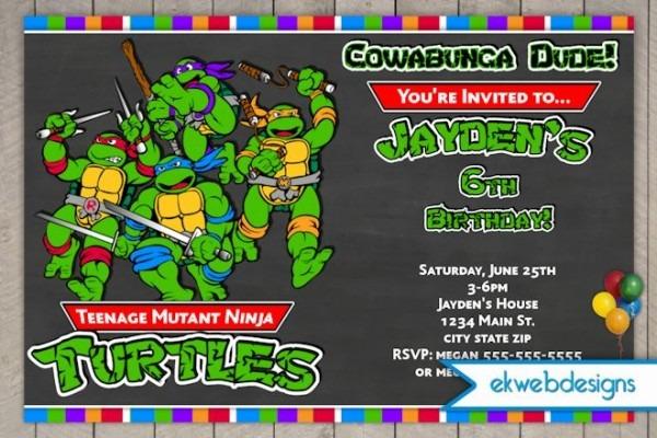 Addbabfaebe Amazing Ninja Turtles Birthday Invitations Free