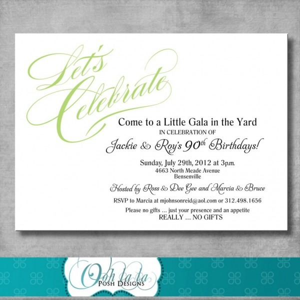 No Gifts At Wedding Wording Best 1st Birthday Invitation Wording