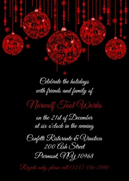 Free Office Christmas Party Invitation Templates St With Regard To