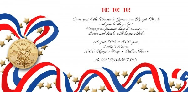 Olympic Birthday Party Invitations Olympic Party Invitation