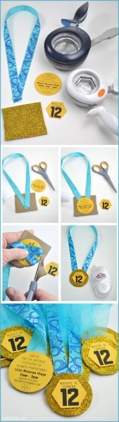 How To Make Olympic Gold Medal Party Invitations