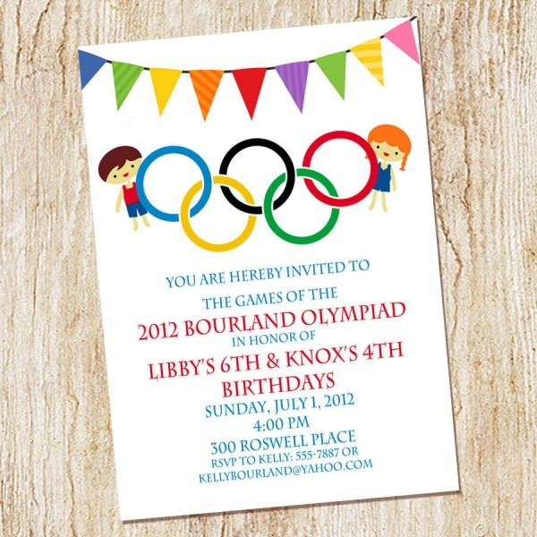 Olympic Party Invitations Olympic Party Invitations By Means Of