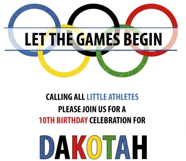 Olympic Party Invitations Olympic Party Invitations Landscaping