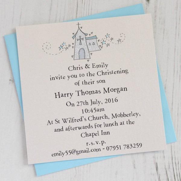 Personalised Christening Invitation Pack By Eggbert & Daisy