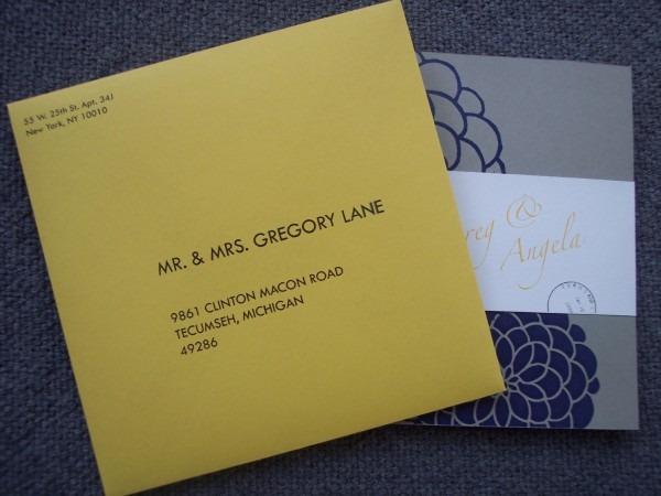 Invitation Letter Envelope ~ Anjinho