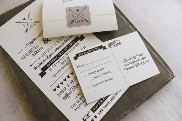 Rustic Seal And Send Wedding Invitation (wisconsin)