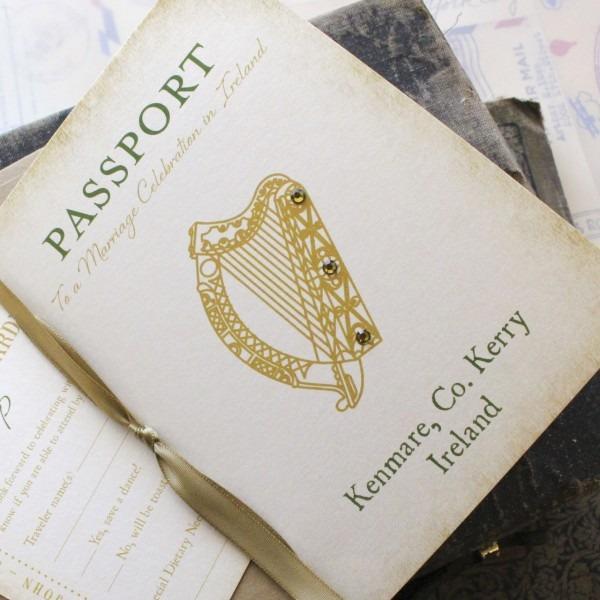 Ireland Passport Wedding Invitation