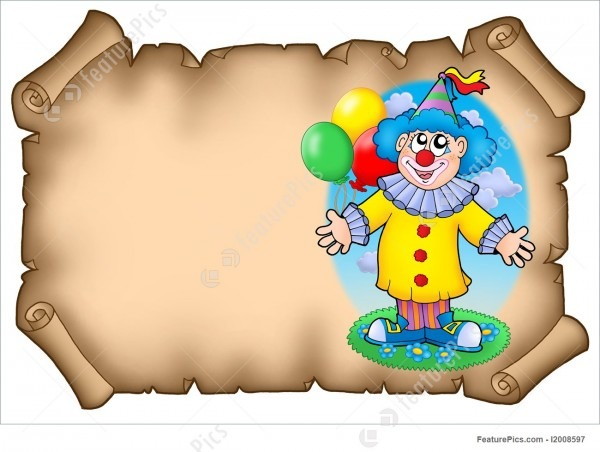 Celebration  Party Invitation With Clown