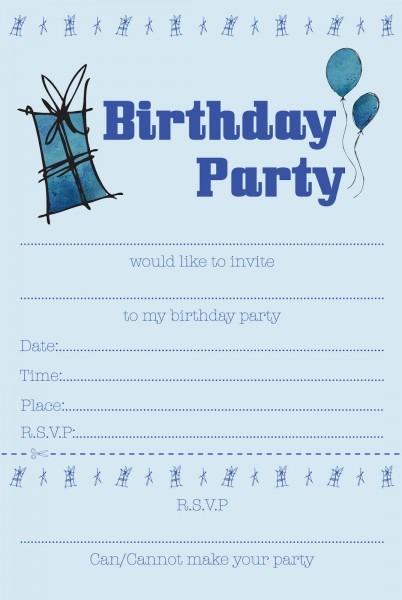Party Invites Boys Vintage Printable Birthday Invitations For Boy