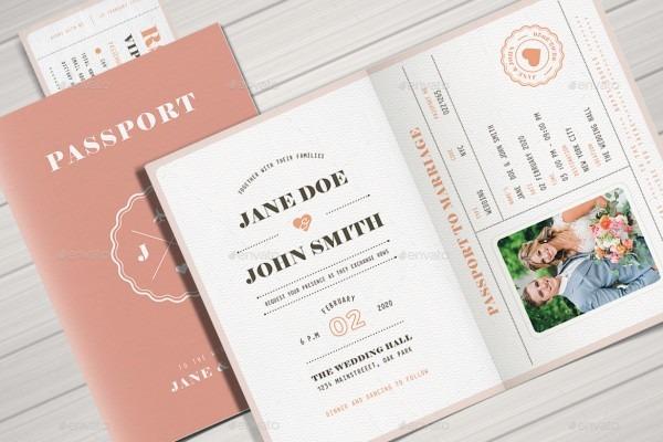 Passport Wedding Invitations Passport Wedding Invitations