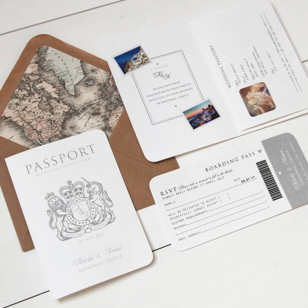 Passport Wedding Invitations Passport Wedding Invitations By Way