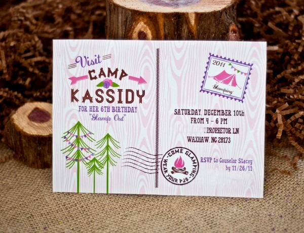 Perfect Camping Party Invitations 94 For Your Free Printable