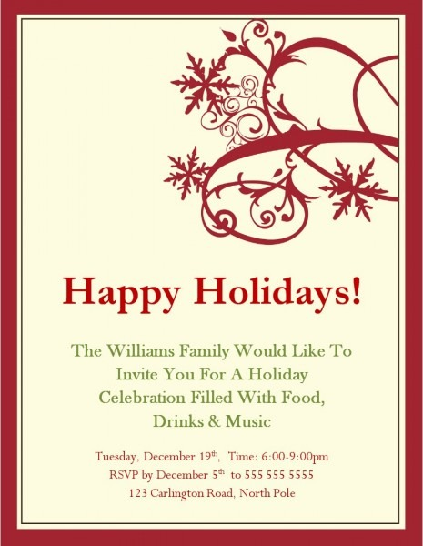 Perfect Free Holiday Party Invitation Templates 19 In Invitations