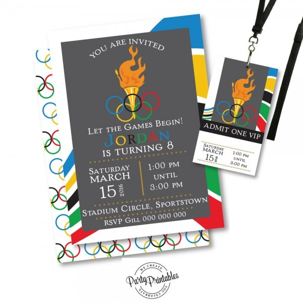 Invitation  Olympic Party Invitation Template