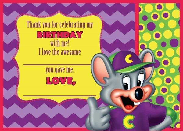 Invitation  Chuck E Cheese Birthday Invitation Template
