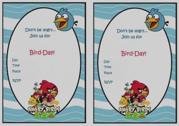 Trend Angry Birds Birthday Invitation Template Free Invitations