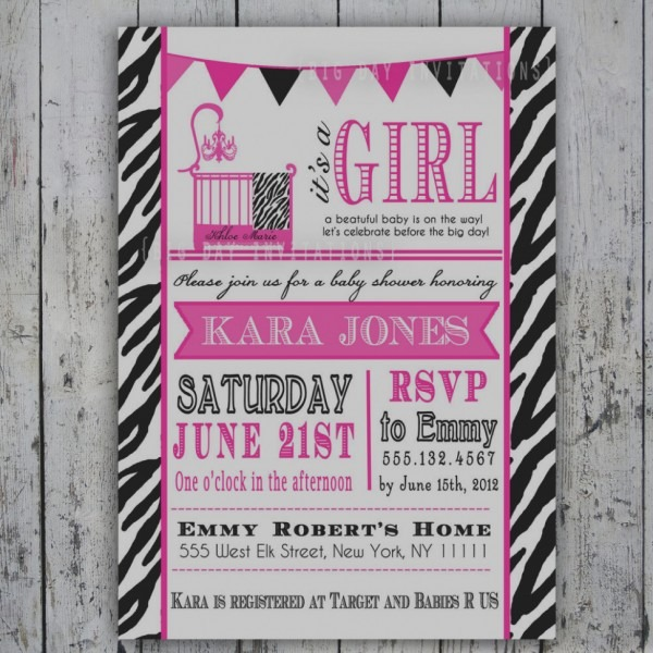 Gallery Of Zebra Print Baby Shower Invitations Free Printable Hot