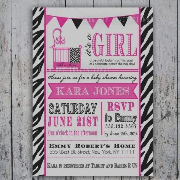 Gallery Of Zebra Print Baby Shower Invitations Free Printable Hot