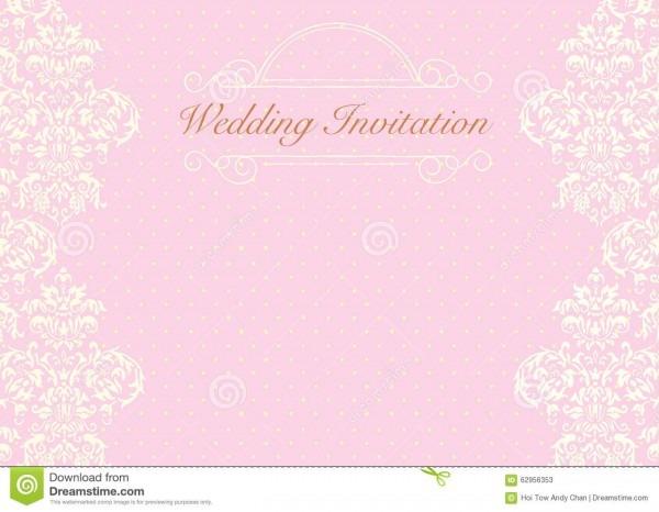 Pink Wedding Invitation Background Stock Illustration