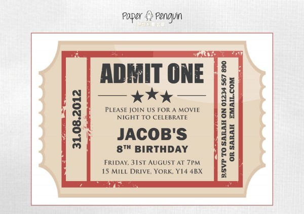 27 Images Of Thor Movie Ticket Invitation Template