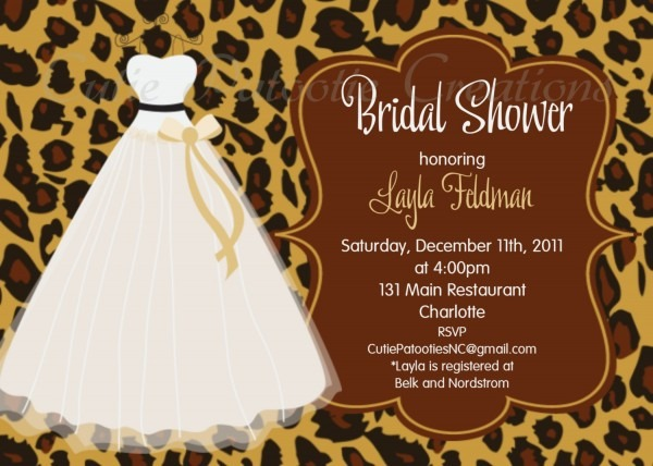 Printed Bridal Shower Invitations Regarding Printed Bridal Shower