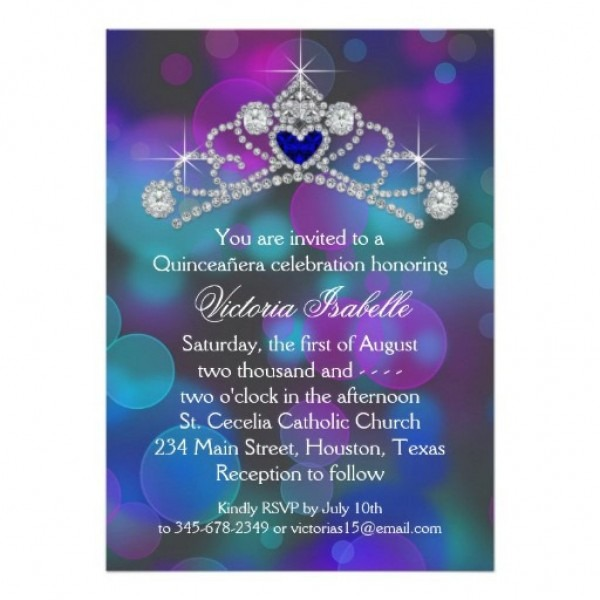 Quinceanera Invitation Templates Free Perfect With Quinceanera