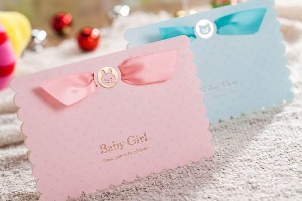 Baby Shower Invitation Boys Girls Birthday Greeting Card Gifts