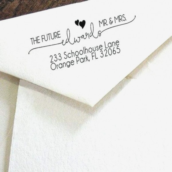 Return Address On Wedding Invitations Custom Print Clear Address