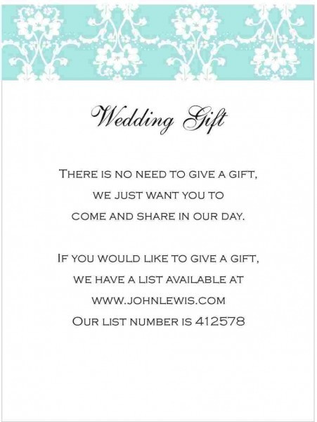 Rhbirthdaypartyideasscom St Wedding Invitation Wording No Gifts
