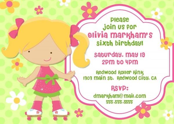 Bear River Photo Greetings  Roller Skating Birthday Party Invitations
