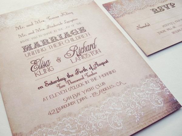 Romantic Wedding Invitations Romantic Wedding Invitations For
