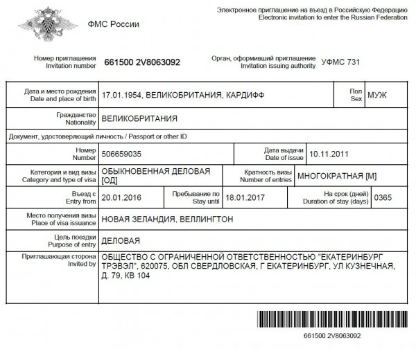 Visa Support Letter Sample Russia