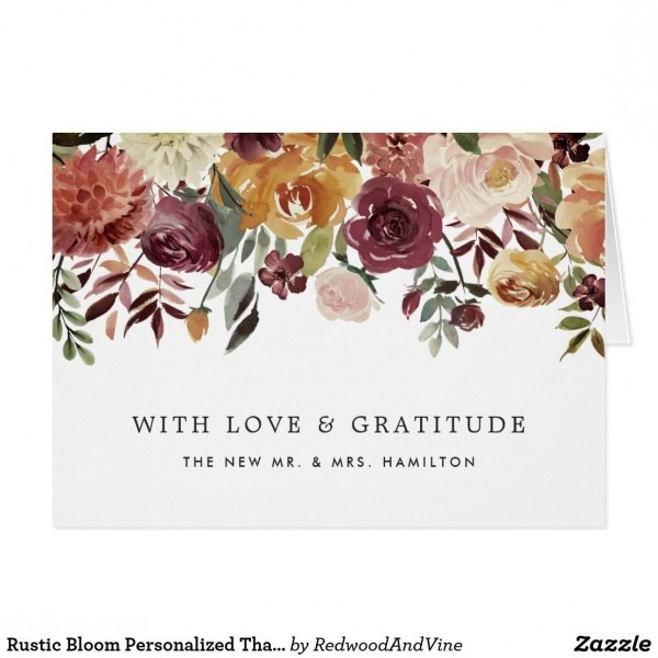 Rustic Bloom Personalized Thank You Best Party Invitation Collection Lush Party