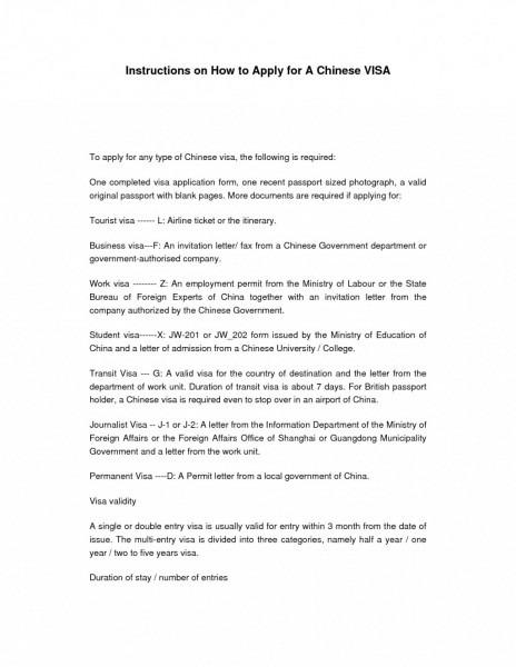 Sample Invitation Letter For Business Visa New Format Australian