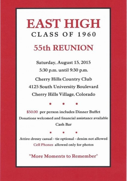Sample Class Reunion Flyers