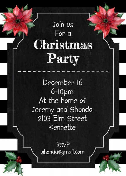 Christmas Party Invitations   New For 2019 Printed Or Digital