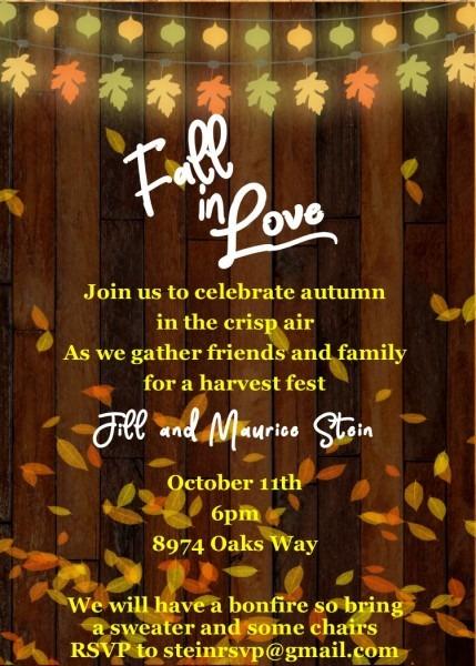 harvest festival invitation wording